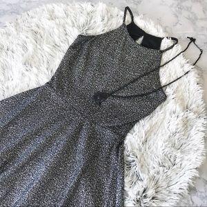 Necessary Objects Metallic Fleck Halter Dress